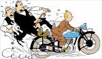 Tintin en moto